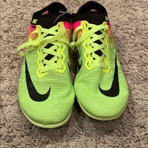 Nike Mamba Volt/Pink Track Spikes Size 5.5
